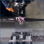 Move the rotating Spindle Fan up to 100 – 150mm clearance above the workpiece at 3 – 10 m/min. feed